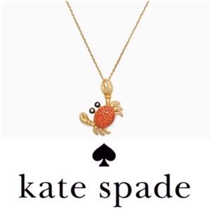 JUST IN - Kate Spade Shore Thing Crab Pendent